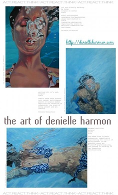 collage from blog post (REACT...COULD IT BE THAT I'M A PISCES...?) featuring the art of DENIELLE HARMON denielleharmon.com