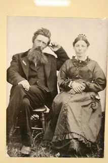 Pa and Ma Ingalls.  Charles and Caroline.  Ma is believed to be wearing the comb the girls bought her.