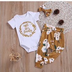 Isn't She Lovely Print Set Isn't She Lovely Print Set - Cute Adorable Baby Outfits Baby Set, Baby Baby, Outfits Niños, Kids Outfits, My Baby Girl, Baby Love, Baby Girl Items, Baby Girl Fashion, Kids Fashion