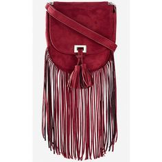 Express Fringed Faux Suede Cross Body Bag (240 EGP) ❤ liked on Polyvore featuring bags, handbags, shoulder bags, purple, purple purse, fringe crossbody purse, red purse, crossbody pouch and fringe handbags
