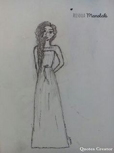 I drew this girl  ↘        ⬇        ↙ Xrisoula Manolaki