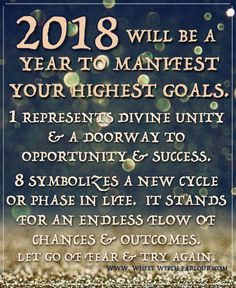 2018, mystic, metaphysical, spiritual, predictions, meaning, symbolism, magick, witch, spells, manifest, numerology, goals, new year. www.whitewitchparlour.com