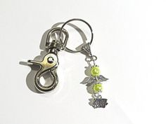 Worlds Greatest Mom Angel Key chain.  Yellow by NammersCrafts