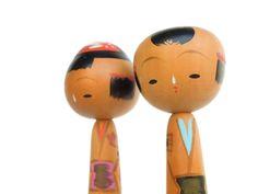 Kokeshi Doll Pair, handmade Japanese. $42.50, via Etsy.