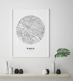 Paris Map Print Paris Carte Paris City Paris Map Poster France City City Map Print Black and White Map France France Print London Map, Paris Map, London City, Paris City, London Poster, Amsterdam Map, Circle Map, England Map, City Map Poster