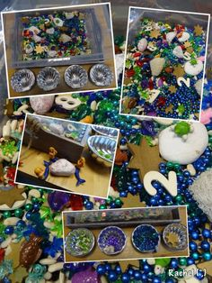 """Activities around the beach and sea for Early Years play. from Rachel ("""",) Fish Activities, Animal Activities, Maths Eyfs, Early Years Maths, Under The Sea Theme, Unicorns And Mermaids, Rainbow Fish, Play Based Learning, Ocean Themes"""