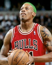 Dennis Rodman: When I was a child, I was a huge Bulls fan because of the Michael Jordan-craze, but Rodman grew to be my favorite all-time player. He has such an amazing story and a unique personality. He truly brought showmanship to basketball...and sports in general.