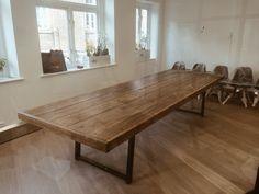 Jules Reclaimed Wood Meeting Boardroom Table Scaffold Boards - Reclaimed wood boardroom table