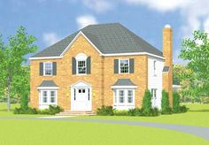 Eplans Colonial House Plan - Stately Brick Home - 2319 Square Feet and 4 Bedrooms from Eplans - House Plan Code HWEPL03404