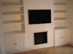 Image result for built in storage cupboards alcove