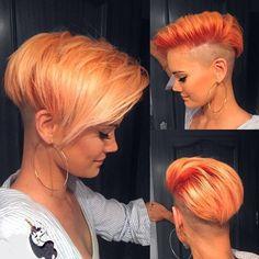"""Azúcar"" #pixie #pixiecut #pixiehaircut #pixielove #pixiegirl #hair #hairstyle #haircut #haircolor #shorthair #shorthairdontcare #orangehair #orangeisthenewblack #me #beyourself #nothingbutpixies"