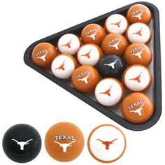 Texas Longhorns Pool Ball Set. If The Texas Longhorns Are Your Thing, .