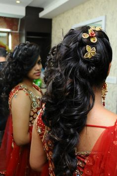 Bridal hairstyle for curly long hair
