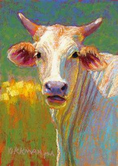 "Daily Paintworks - ""Chardonnay"" - Original Fine Art for Sale - © Rita Kirkman. 5x7 pastel. 6/30/2015"