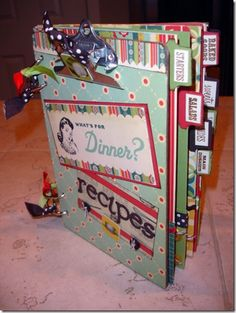 "Hobby di Carta - Il blog: ISPIRAZIONE:""Mini Clipboard Recipe Book Kerrybarker"" by Crissi"