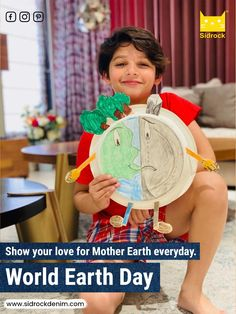 Show your love for Mother Earth everyday. Let's be good kids to Mother Earth and take care of her the way she takes care of us! Boys Jeans, Denim Jeans, World Earth Day, Happy Earth, Save The Planet, Kids Online, Mother Earth, Cool Kids, International Days