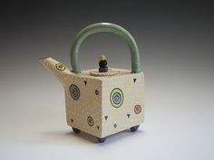 Circle Circle Teapot by Vaughan Nelson: Ceramic Teapot available at www.artfulhome.com