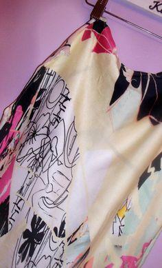 One of my Illustrative  digital fabric print designs for fashion <3