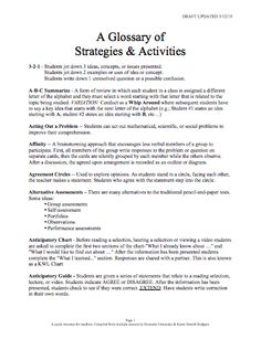 Here's a helpful glossary of SIOP strategies and activities.
