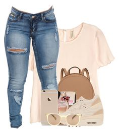 """Talk Dirty"" by f0rever-d ❤ liked on Polyvore featuring H&M, MICHAEL Michael Kors, NIKE and Oliver Peoples"
