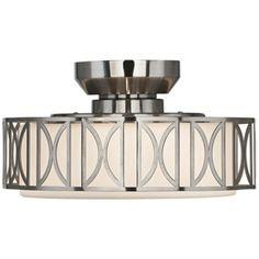 Deco Brushed Nickel Finish Pull Chain Ceiling Fan Light Kit | LampsPlus.com