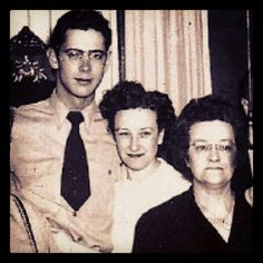My dad George Baker with his sister  and his mom.