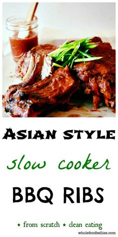 Asian Style Slow Cooker BBQ Ribs. Quick and easy slow cooker meal, perfect for a weeknight dish. Set and forget
