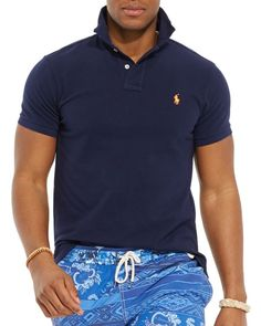 Polo Ralph Lauren Custom Fit Mesh Polo Shirt - Slim Fit