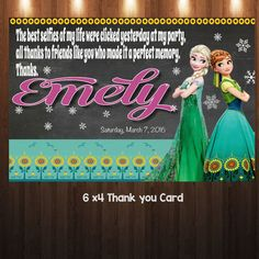 Fever Frozen Birthday Invitation Frozen by easyhappyparty on Etsy