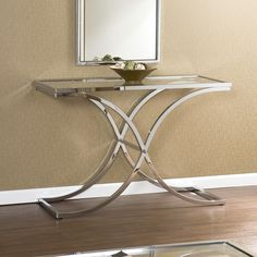 Anikka Modern Chrome And Glass Console Hallway Table | Pinterest | Console  Tables, Consoles And Chrome