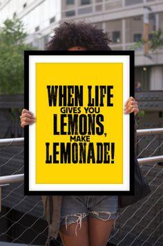 Quelle vie vous donne des citrons typographie par TheMotivatedType, $12.00