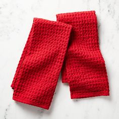 Sale ends soon. Shop Oversized Waffle Red Dish Towels, Set of The chunky waffle weave of these red cotton towels makes them super absorbent and generously textured. Small Apartment Design, Color Pairing, Christmas Kitchen, Cotton Towels, Dish Towels, Crate And Barrel, Crates, Waffles, Card Making