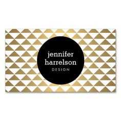 Gold Prism Modern Business Card. Make your own business card with this great design. All you need is to add your info to this template. Click the image to try it out!