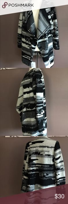 Warm wool cardian sz L Guest Editor Wool Blend Jacket Women Black And Gray Sz Large. Super warm. guest editor Sweaters Cardigans