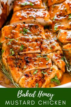 Savory, juicy Baked Honey Mustard Chicken bakéd in a zésty saucé! Creamy Honey Mustard Chicken, Honey Mustard Recipes, Honey Mustard Chicken Marinade, Chicken Breast Recipes Healthy, Baked Chicken Recipes, Chicken Meals, Healthy Meals, Easy Healthy Recipes, Cooking Recipes