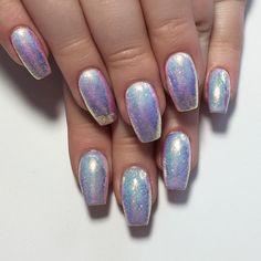 Mermaid polish with glitter