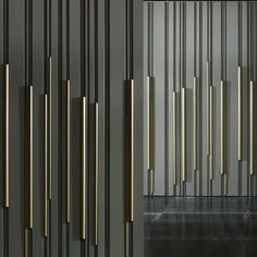 Find out all of the information about the LAURAMERONI product: wood decorative panel wall mounted lacquered effect BAMBOO by Diego Maria Piovesan. Contact a supplier or the parent company directly to get a quote or to find out a price or your clos Feature Wall Design, 3d Wall Panels, Tiles Texture, Concrete Wall, Wood Wall, Decorative Panels, Facade Design, Wall Patterns, Wall Treatments