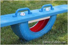Eskimiş çıkma lastikleri kullanarak eviniz ya da bahçeniz için birbirinden dekoratif ve kullanışlı eşyalar yapabilirsiniz.