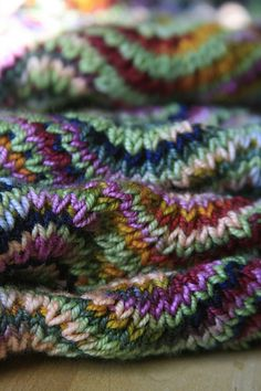 rainbow - Chevron Scarf from Last Minute Knitted Gifts