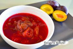 Chisalita de prune este o reteta simpla si usor de preparat, care imi aminteste de copilarie, de vacantele la bunici si de zilele de vara tarzie. Thai Red Curry, Chili, Ethnic Recipes, Mascarpone, Chile, Chilis