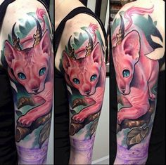 Sphynx Cat Tattoo by Andy Chambers