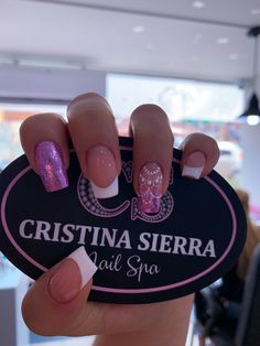 𝒞𝑅𝐼𝒮𝒯𝐼𝒩𝒜 𝒮𝐼𝐸𝑅𝑅𝒜 𝒩𝒜𝐼𝐿 𝒮. by Sierra Nail Spa 💗 Manicure E Pedicure, Nail Spa, Fall Nail Designs, Cute Nail Designs, Pink Nails, Gel Nails, Bride Nails, Pretty Nail Art, Diamond Nails