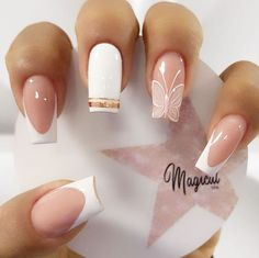 Coffin Nails, Acrylic Nails, Geometric Nail Art, Butterfly Nail, Super Nails, Stylish Nails, Manicure And Pedicure, Pedicure Ideas, Gorgeous Nails