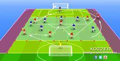 Diagrama ejercicio de fútbol