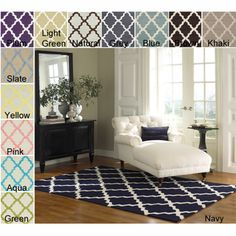 @Overstock - Available in a range of colors, this contemporary, hand-hooked wool area rug from the Alexa Moroccan Collection is sure to add a distinctive style to any room in the house. The rug measures 5 ft. x 8 ft. and features a striking trellis design pattern.http://www.overstock.com/Home-Garden/Hand-hooked-Alexa-Moroccan-Trellis-Wool-Rug-5-x-8/5777732/product.html?CID=214117 $165.99