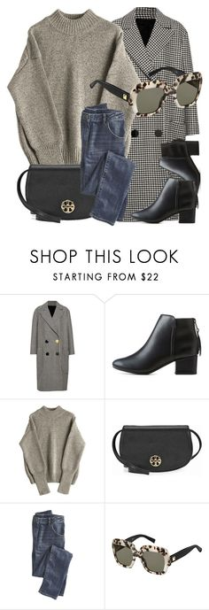 """""""Business Trip"""" by smartbuyglasses-uk ❤ liked on Polyvore featuring Petar Petrov, City Classified, Tory Burch, Wrap, MaxMara, black and gray"""
