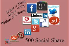 Social media marketing offer! 500 social share or back link