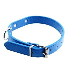 Pecute Dog Collar Harness PU Leather Collars Dog Pet Cat Neck Strap Buckle Adjustable Belt Gifts