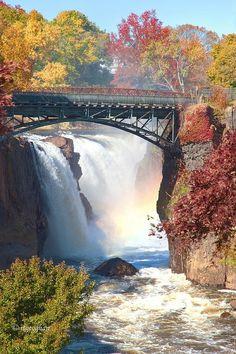 Passaic River Great Falls, located in Paterson, NJ