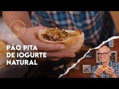 COMO FAZER PÃO PITA | SÍRIO | ARÁBE COM IOGURTE NATURAL - YouTube Pizza, Cheesesteak, Tacos, Ethnic Recipes, Mini, Food, Youtube, Plain Yogurt, Recipes